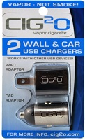 Cig2O Car and Wall Charger